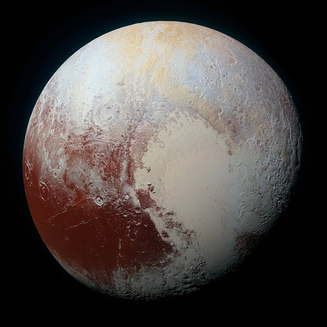 Pluto, captured by the NASA spacecraft New Horizons